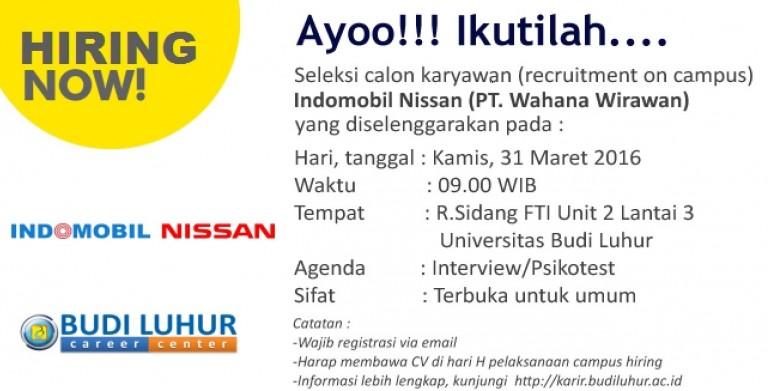 Campus Hiring Universitas Budi Luhur